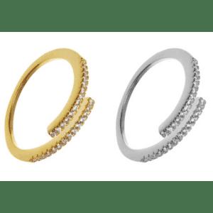 Sophia verstellbarer Ring mit Steinen varianten